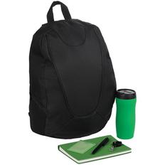 Набор Daypack: рюкзак Unit Beetle, термостакан Forma, ежедневник Twill, ручка шариковая Crest, чехол для пропуска, ретрактор, зеленый фото