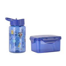 Набор для детей (контейнер для ланча, бутылка для воды, 0,45мл), синий фото