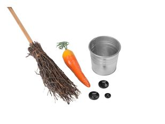 Набор для лепки снеговика Зимняя забава: шарф, ведерко, метла, морковка, пуговицы, разноцветный фото