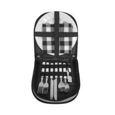 Набор для пикника «Ланч» на 2 персоны в сумке, серый / черный фото