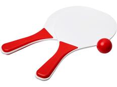 Набор для пляжных игр Bounce, белый/красный фото