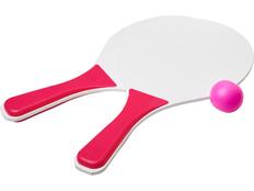 Набор для пляжных игр Bounce, белый/розовый фото