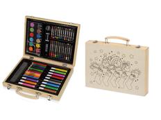 Набор для рисования в чемодане с рождественским рисунком, деревянный фото