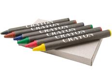 Набор для рисования: карандаши восковые, 6шт, серый фото