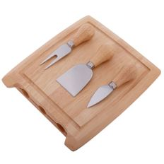 Набор для сыра Грюйер, 4 предмета, крафт фото