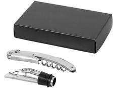Подарочный набор для вина, серый фото