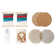 Набор для вышивания Елочная игрушка, крафт/ разноцветный фото