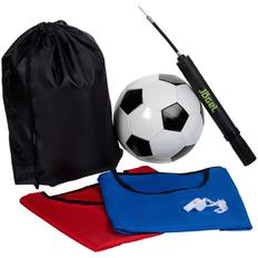 Набор для игры в футбол On The Field: 2 манишки, свисток, футбольный мяч, насос, разноцветный фото