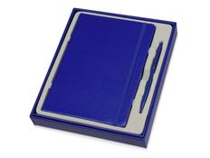 Набор Альфа: блокнот А5, ручка шариковая, синий фото