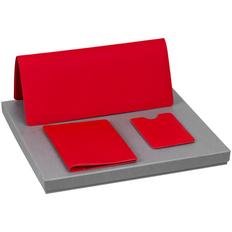 Набор Dorset Simple: чехол для карточки, обложка для паспорта, дорожный органайзер, красный фото