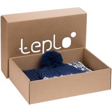 Набор teplo Eira: шапка, шарф, синий фото