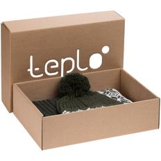 Набор teplo Eira: шапка, шарф, зеленый фото