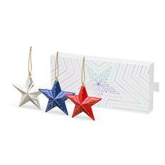 Набор елочных игрушек «Новогодние Звезды», 3 шт в пенале, разноцветный фото