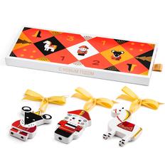 Набор елочных игрушек в пенале, разноцветный фото