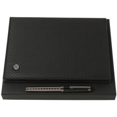 Набор Hugo Boss Epitome: папка с блокнотом А5 и роллер, черный фото