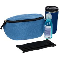 Набор Everclear: маска, термостакан, санитайзер, поясная сумка, синий фото
