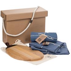 Набор Very Marque Fine Line: набор полотенец, фартук, дорожка сервировочная, набор салфеток, доска разделочная, синий фото