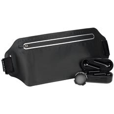 Набор Foot Tech: беспроводные наушники Nextlevel, смарт-шагомер Stegra, сумка для бега Torren, черный фото
