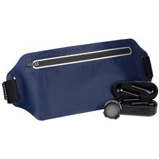 Набор Foot Tech: беспроводные наушники Nextlevel, смарт-шагомер Stegra, сумка для бега Torren, синий / черный фото