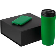 Набор Formation: термостакан Forma, внешний аккумулятор Uniscend Half Day Compact 5000 мAч, зеленый фото