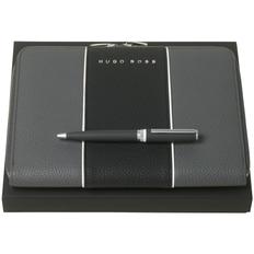Набор Hugo Boss Gear: папка с блокнотом и ручка, серый фото
