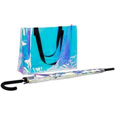Набор Glare Flare: зонт, сумка, серебряный фото