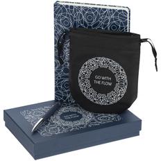 Набор Go With The Flow: блокнот-раскраска, антистресс Magic Flow, ручка шариковая Arc Soft Touch, синий/ черный фото