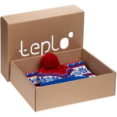 Набор teplo Happy View: шапка, шарф, красный/ синий фото
