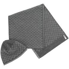 Набор Hard Work: шапка и шарф, серый фото