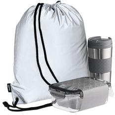 Набор Hard Work Taste It Easy: термостакан, ланч-бокс, рюкзак Manifest, серебристый фото