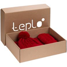 Набор teplo Heat Trick: шапка, шарф, варежки, красный фото