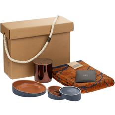 Набор Very Marque Home Resort: блюдо, полотенце, набор подсвечников, свеча, саше, большой, горчичный фото