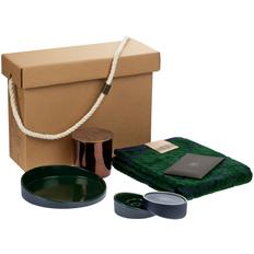Набор Very Marque Home Resort: блюдо, полотенце, набор подсвечников, свеча, саше, большой, зеленый фото