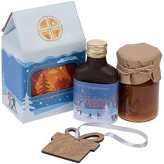 Набор Honeydays: мед Bee To Bear, сбитень классический, деревянная подвеска Carving Oak, голубой фото