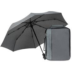 Набор Indivo streetWise: рюкзак для ноутбука 2 в 1 twoFold, зонт складной rainVestment, серый фото