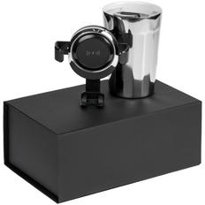 Набор Interstate: термостакан IconyMug, держатель для телефона с беспроводной зарядкой Buddy Holdy Wireless, черный / серебристый фото