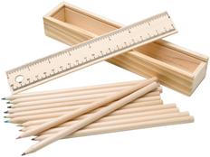 Набор простых карандашей Draw, 12шт, бежевый фото