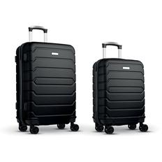 Набор из 2 чемоданов из ABS, черные фото