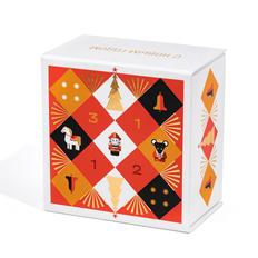 Набор из 3 игрушек в шкатулке: «Щелкунчик», «Лошадка», «Часы», разноцветный фото