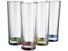 Набор из 4 стаканов Rocco, прозрачный / разноцветный фото