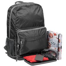 Набор Joyhunter: рюкзак-трансформер Torren, органайзер для путешествий Dundee, мешок водонепроницаемый Ikke Vann, ежедневник «Гражданин мира», набор для путешествий Essential, багажная бирка Dorset, черный / серый фото
