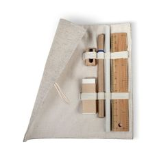 Набор канцелярский «Эко»: пенал, линейка, точилка, ластик, карандаш, ручка шариковая, серый фото
