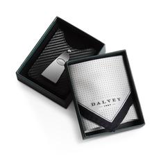 Набор: кредитница с зажимом для денег, платок, черно-серебряный фото