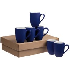 Набор кружек Best Morning Soft Touch, 6 шт, синий фото