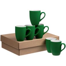 Набор кружек Best Morning Soft Touch, 6 шт, зеленый фото