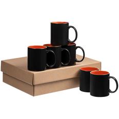 Набор кружек-хамелеонов On Display, 6 шт, черный / оранжевый фото