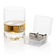 Набор кубиков для охлаждения напитков, 4 шт, из нержавеющей стали, серебристый фото