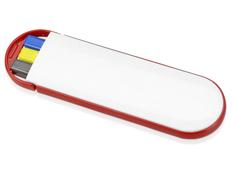 Набор подарочный Квартет: ручка шариковая, маркер, карандаш, белый / красный фото