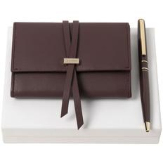 Набор Nina Ricci Lien: футляр для карточек и ручка, бордовый фото