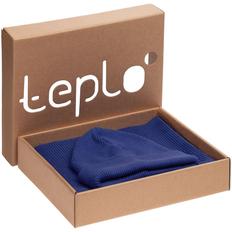 Набор teplo Life Explorer: шапка, шарф, ярко-синий фото